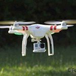 Quadrocopter DJI Phantom 1 Tiefflug