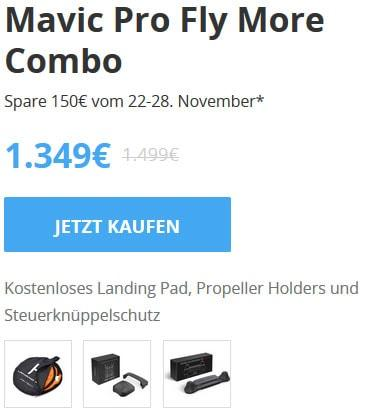 DJI Mavic Pro Fly More Combo Black Friday 2017 Angebot
