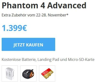 DJI Phantom 4 Advanced Black Friday 2017 Angebot