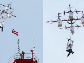 Drone-Jumping - Skydiving von einer Drohne aus