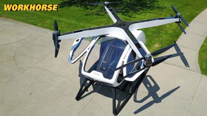 Die SureFly Helikopter-Drohne für zwei Personen